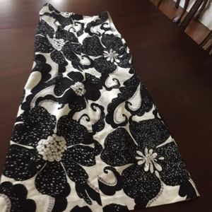 Anna Sui black and white dress size 8